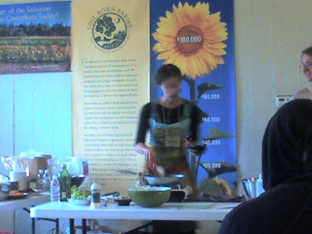 sara teaches cooking