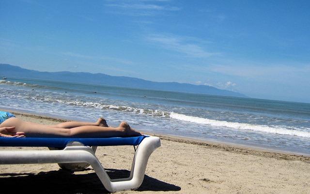 sara on the beach