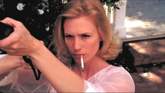 a cigarette, a gun, and betty draper