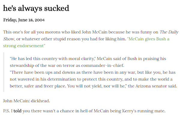 Mccain always sucked