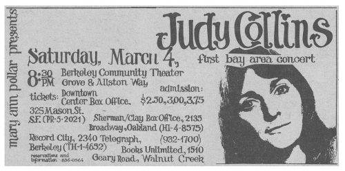 Judy collins bct 1967