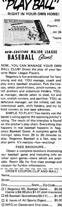 Negamco baseball ad
