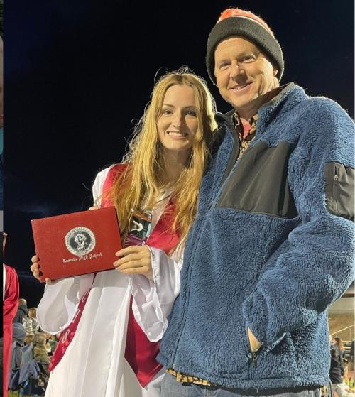 Ava and john graduation